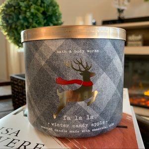 3 Wick Candle | Fa La La Winter Candy Apple
